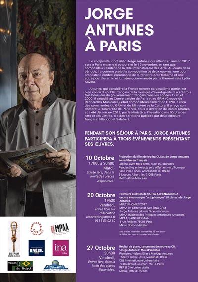 Projection du film de l'opéra OLGA, de Jorge Antunes sous-titré en français