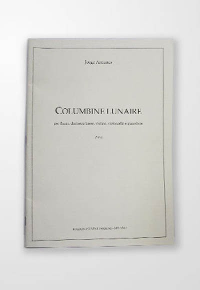 Presentation of the work COLUMBINE LUNAIRE, for G-flute, bass clarinet, violin, cello and piano